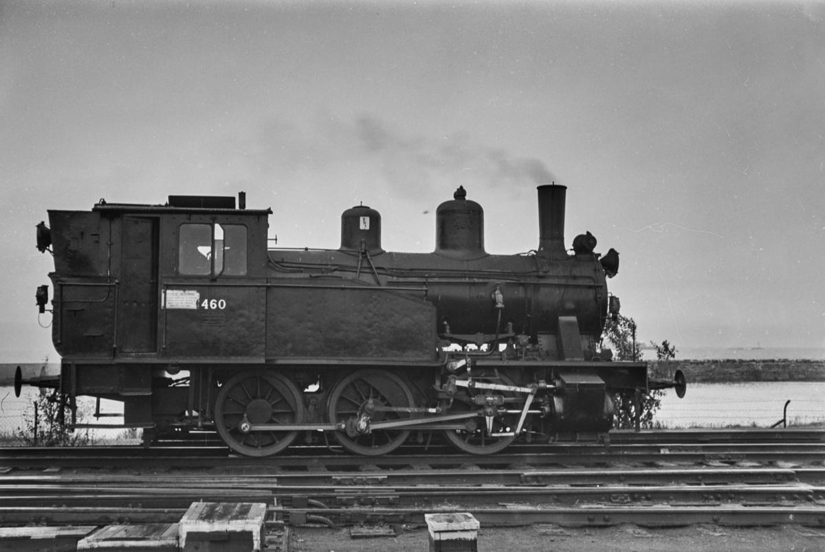 Damplokomotiv type 23b nr. 460 i skiftetjeneste på Trondheim stasjon.