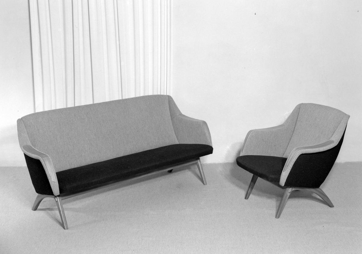 Salong. Sofa og lenestol.