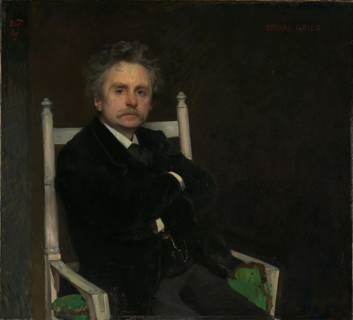 Komponisten Edvard Grieg [Maleri]