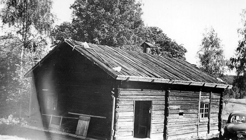 Rökstuga på Vitsands Hembygdsgård, flyttad från Edelaho i Mangen 1924.