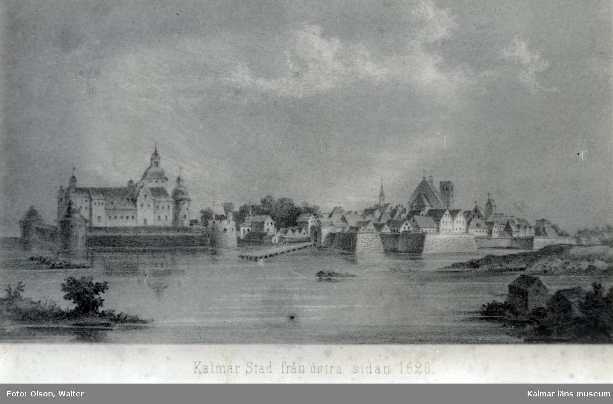 Kalmar stad från östra sidan 1620.