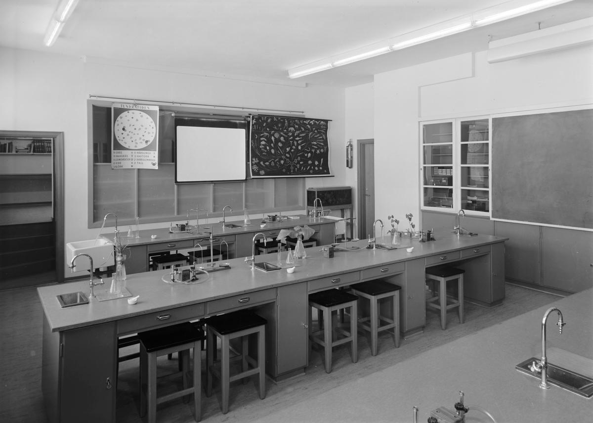 Strindheim skole. Rektors kontor og biologisalen
