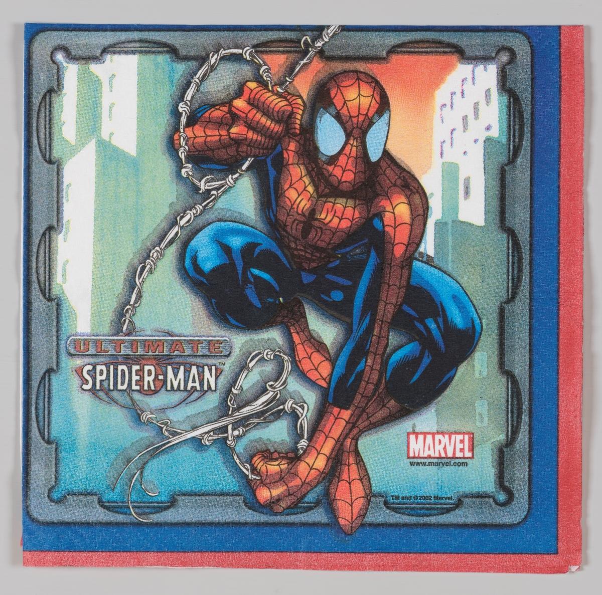 Spiderman  Spider-man er en amerikansk tegneseriefigur som er skapt i 1962 og tilhører selskapet Marvels superhelte univers. I Norge utkom en tegneserie med figuren med navnet Edderkoppen i 1968. I 1999 var serien tilbake i Norge under navnet Spider-Man. Tre amerikanske kinofilmer med Spider-Man er produsert i 2002, 2004 og 2007.