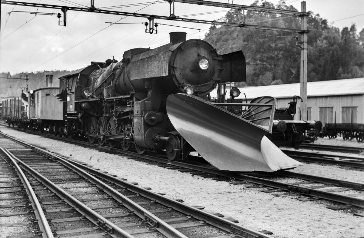 Damplokomotiv type 63a nr. 4836 på Krossen ved Kristiansand.