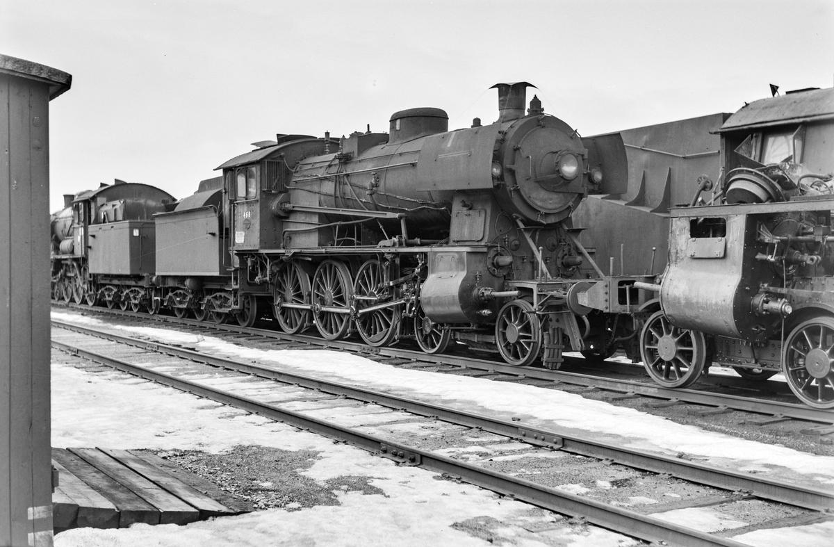 Hensatt damplokomotiv type 30c nr. 468 på Marienborg.