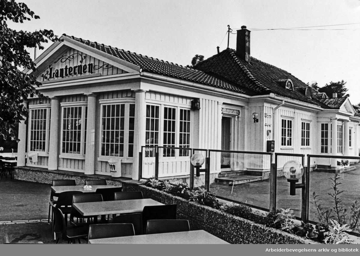 Bygdøy. Lanternen restaurant. Oktober 1978