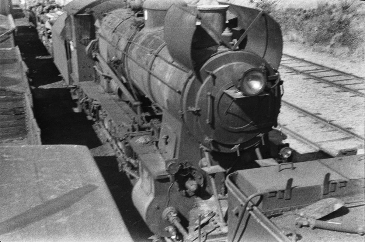 Hensatt damplokomotiv type 31b nr. 448 i Lodalen i Oslo.
