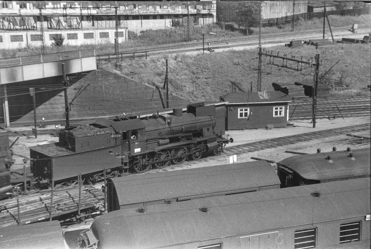 Damplokomotiv type 30b nr. 348 i Lodalen i Oslo.