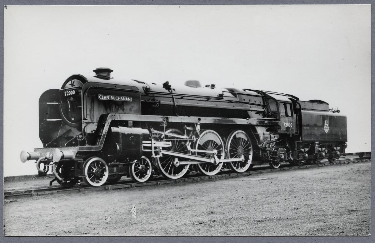 """British Railways, BR CLAN 72000, """"Clan Buchanan""""."""