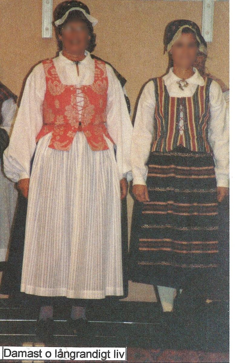 Folkdräkt från Askome i Halland
