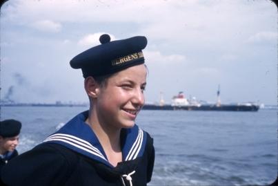 Portrett av en kadett fra skoleskipet STATSRAAD LEHMKUHL.