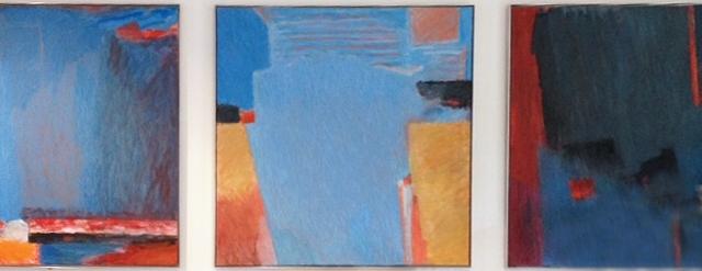 Kunstverket er et triptykon bestående av tre malerier i samme størrelse.