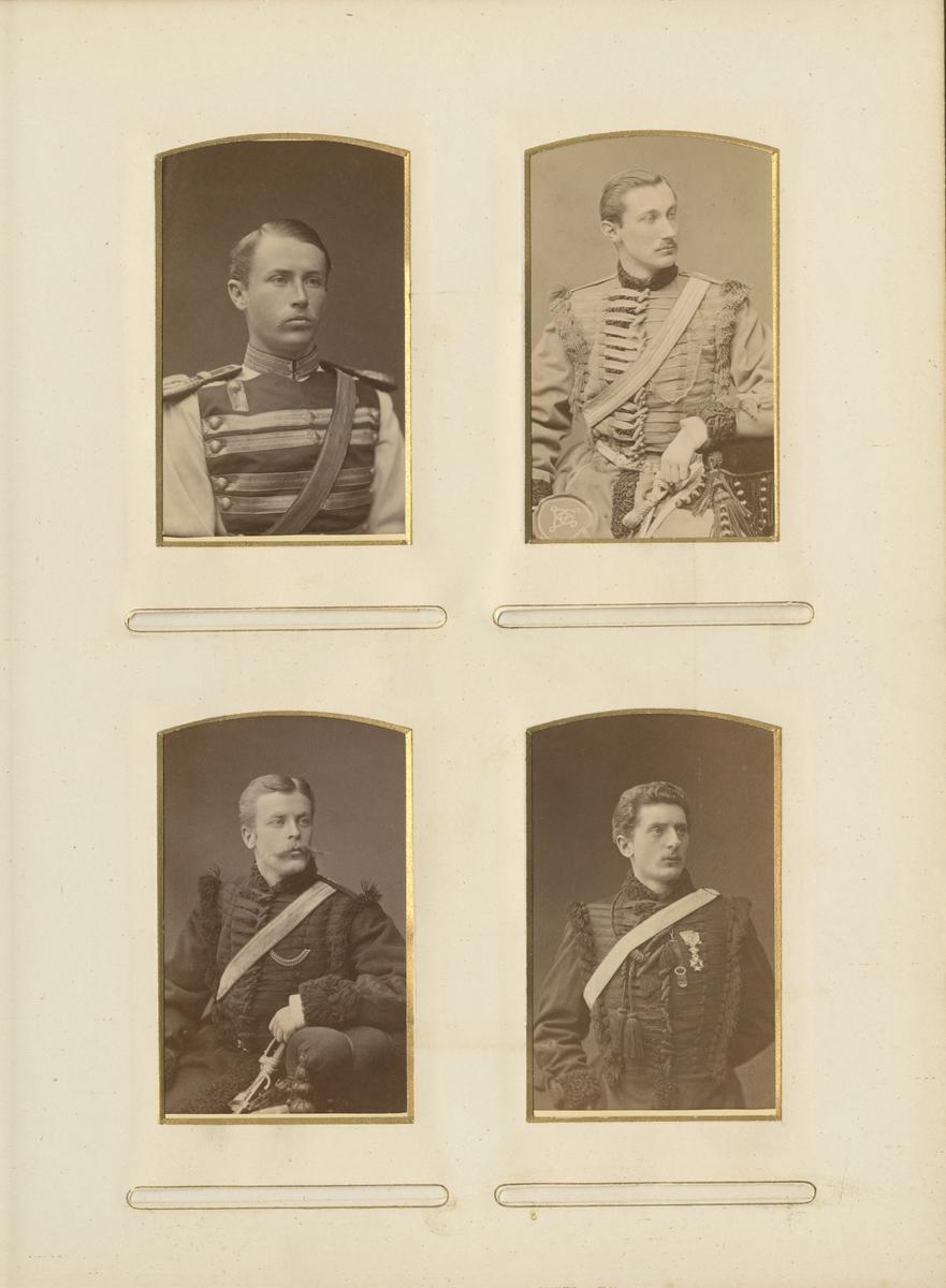 Porträtt av Carl Gustaf Oscar Ankarcrona, underlöjtnant vid Livregementets dragonkår K 2.