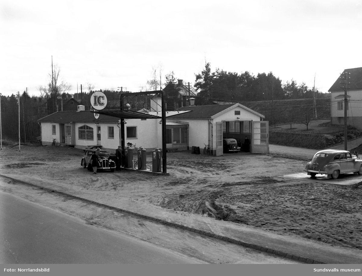 IC Motell i Kvissleby (OK) var Sveriges första motell, startades 1952. Exteriör och en interiör från ett uthyrningsrum.