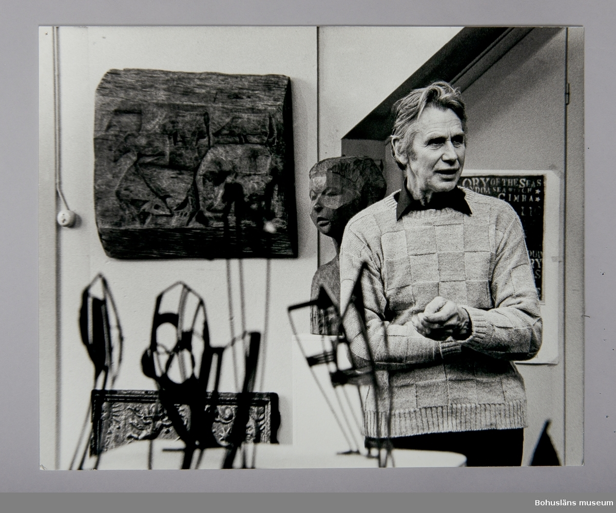 Fotografiskt porträtt Fred Leyman (1919-2004)