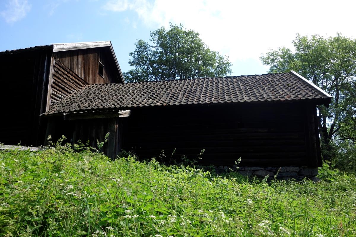 Fjøs Klokkerenga, rekonstruksjon av det gamle fjøset. Nytt fra  ca. 1971.
