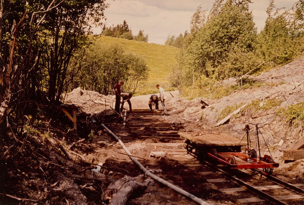 Sporlegging og gjenoppbygging av spor på museumsbanen Urskog-Hølandsbanen mellom Fyen og Sørumsand