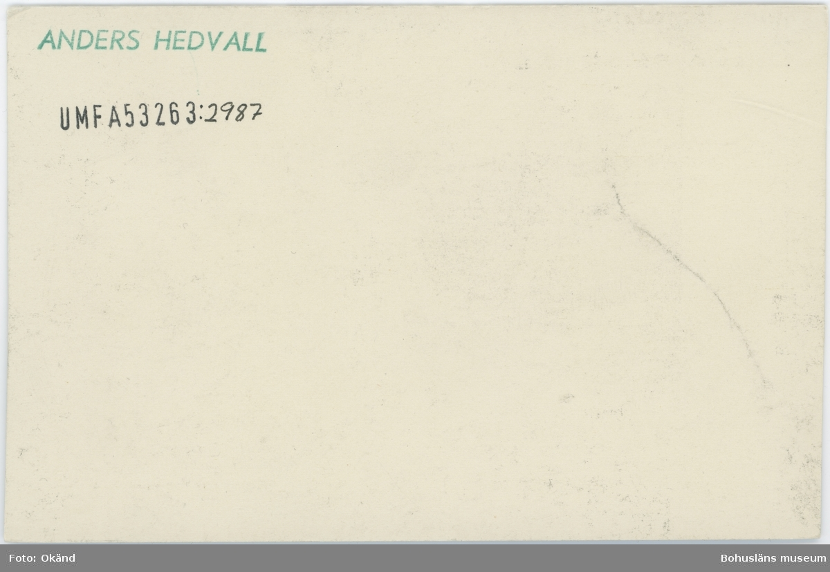 """Tryckt text på kortet: """"Marstrand. Turist-Hotellet."""""""