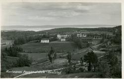 Drammenbanens trase ved Hvalstad. Hartmanns pensjonaltskole