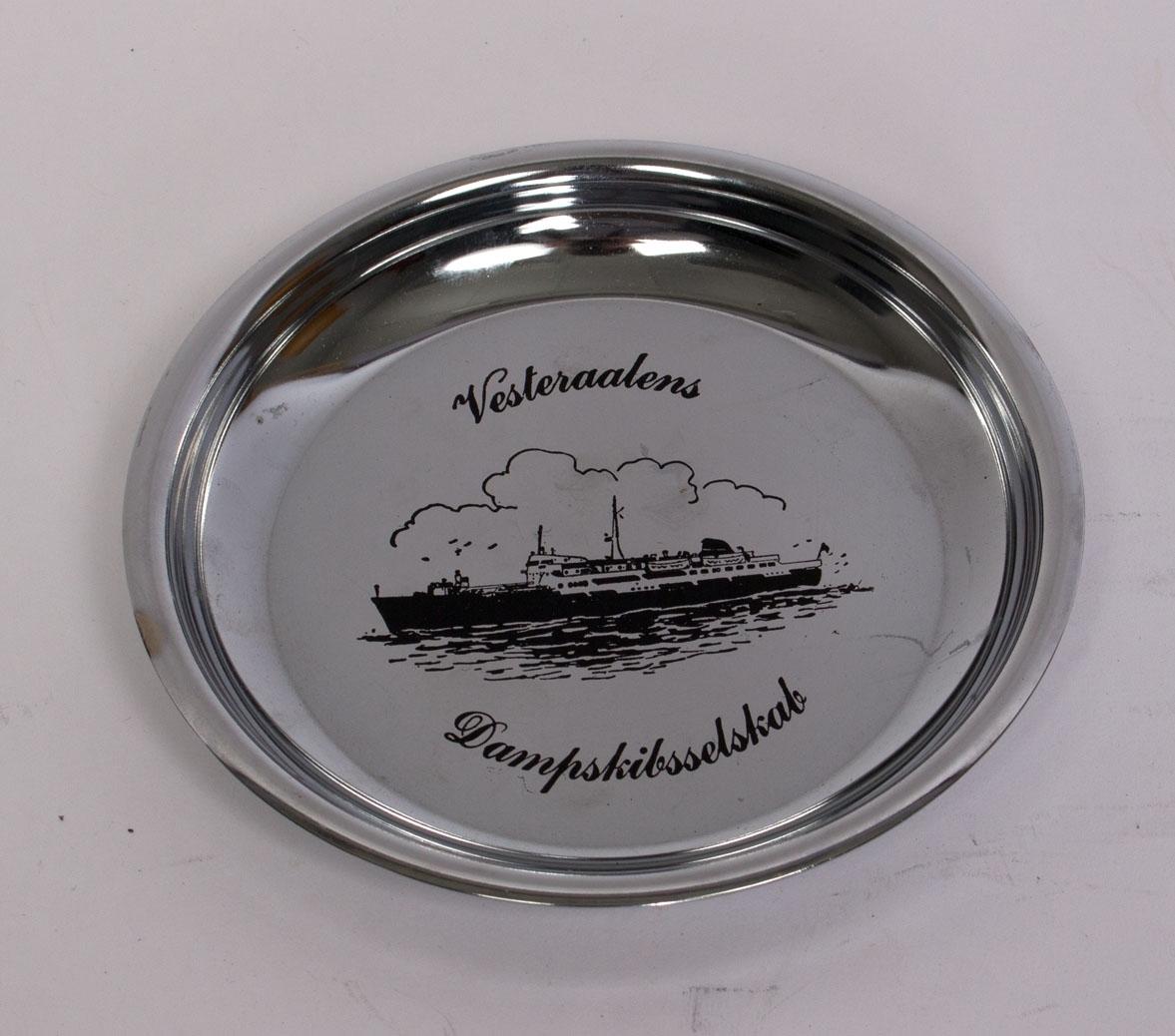Motiv av skip tilhørende Vesteraalens Dampskipsselskab