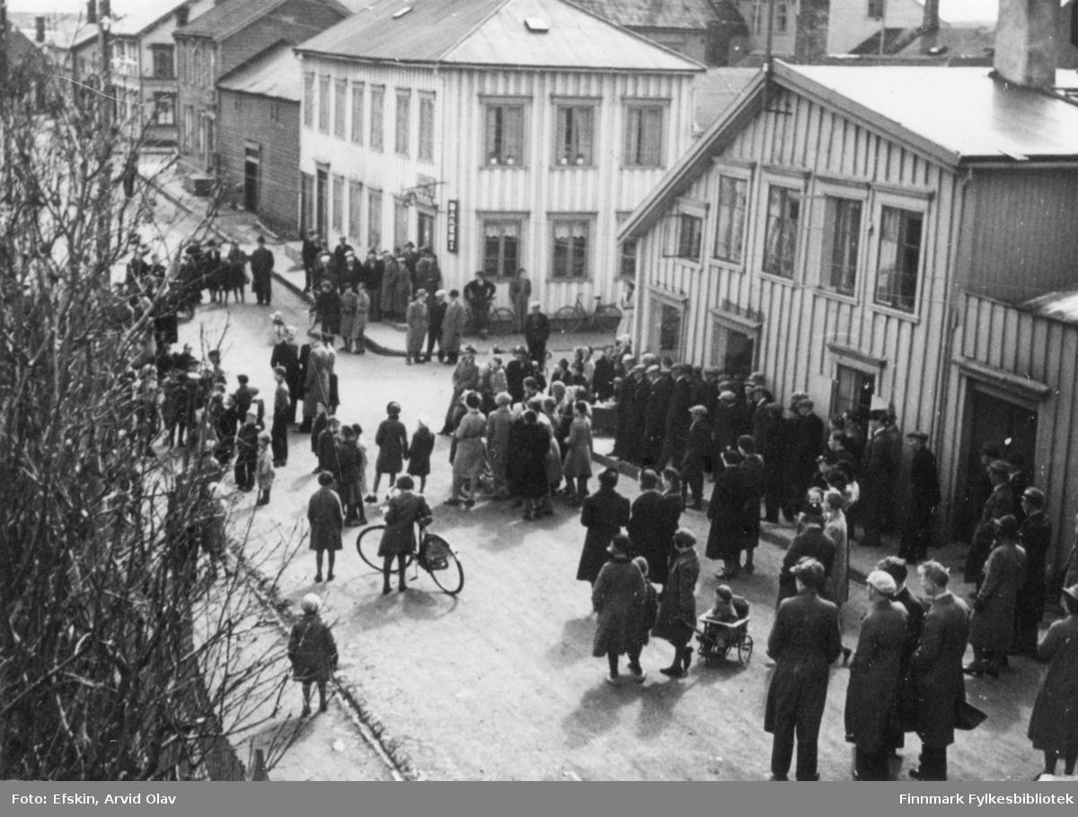 Musikktime i paviljongen i Vadsø, 1939.