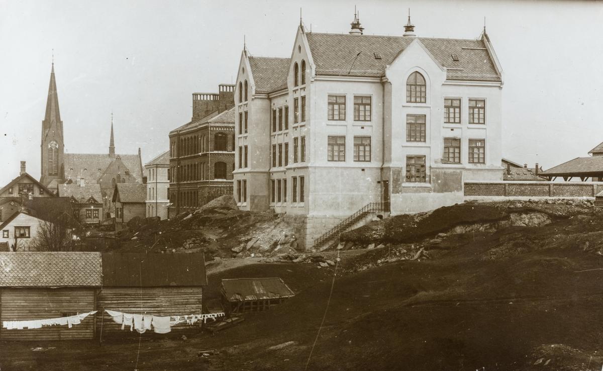 Parti fra Sørhaug sett mot nordøst, ca. 1905.