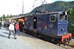 Toget på Thamshavnbanen, her på stasjonen på Løkken.