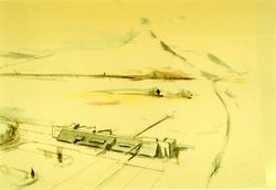 Tegninger av Aukrust-senteret 1995