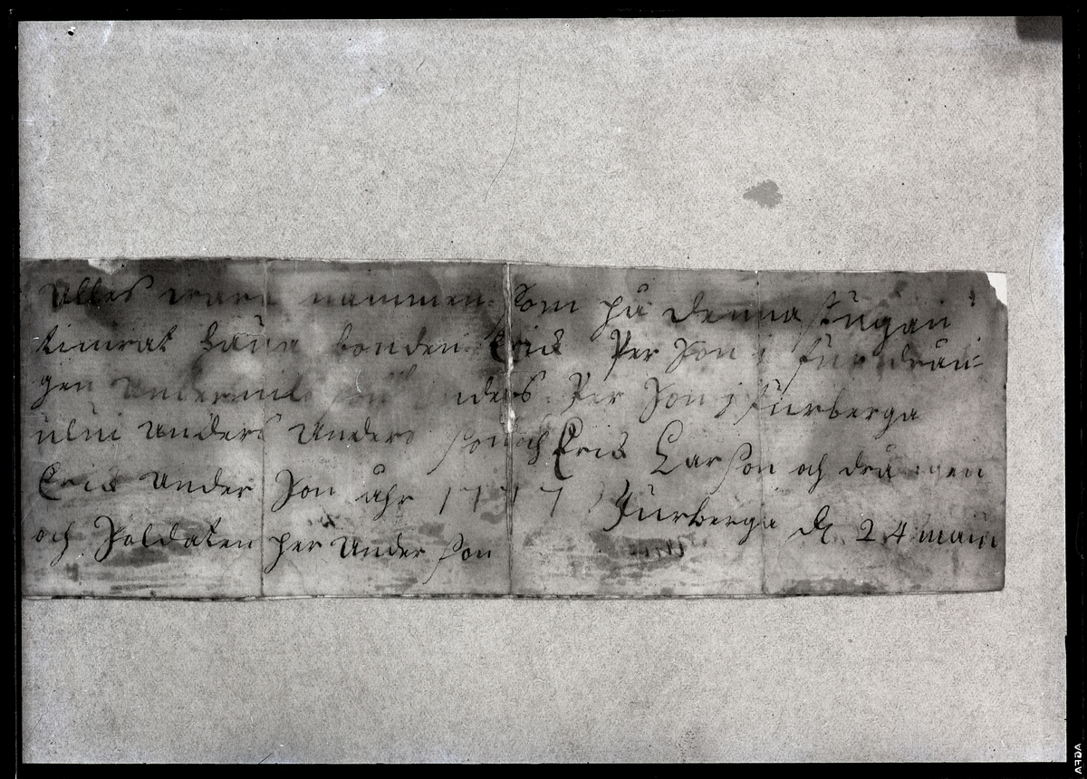 Kroppåsbrev daterat 1777. Furberga, Munktorp sn.