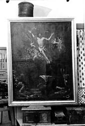"""Målning """"Uppstigandet ur graven"""", före renoveringen."""