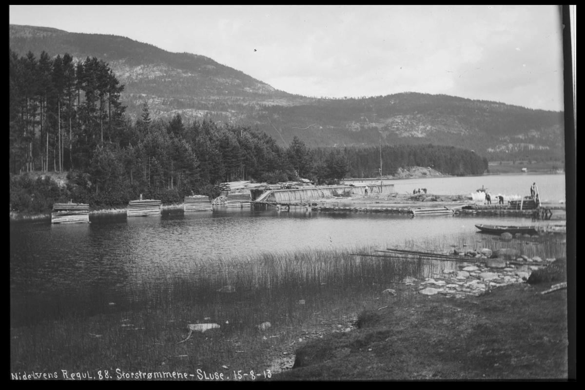 Arendal Fossekompani i begynnelsen av 1900-tallet CD merket 0446, Bilde: 43 Sted: Storstraumene Beskrivelse: Regulering