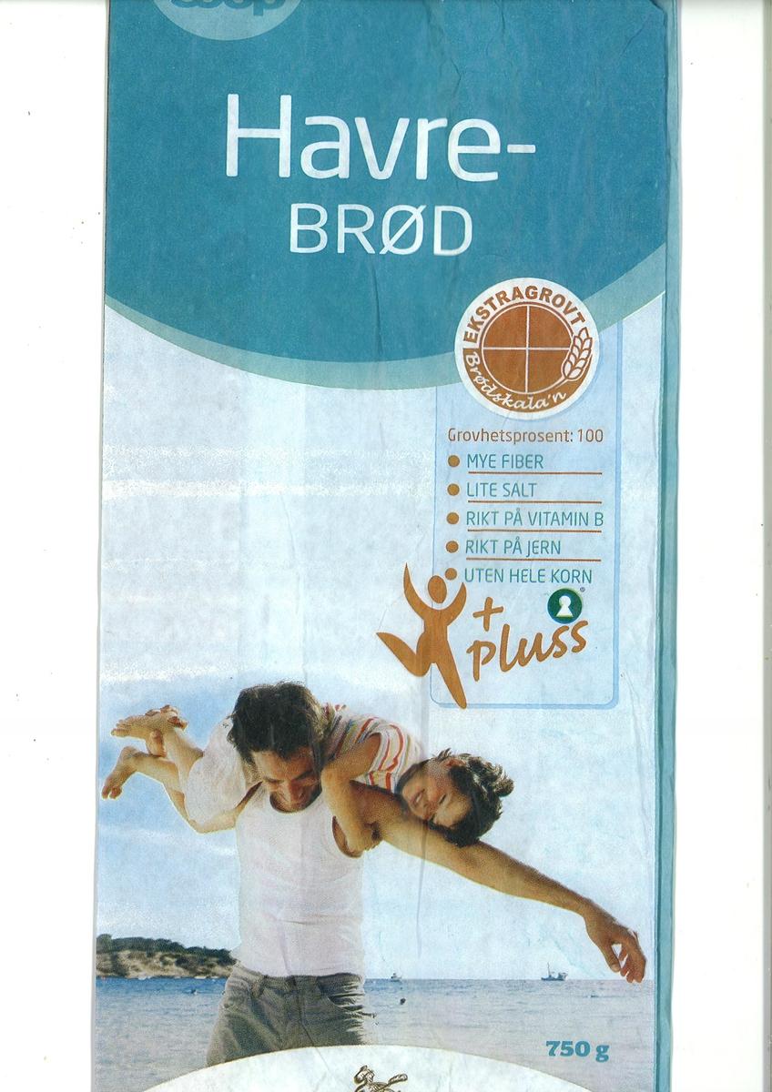 På brødposen finnes et motiv:  En mann (far?) har et barn over skulderen. Det ser ut som om han svinger rundt med barnet i en morsom lek. Parret er avbildet med svaberg og hav bak seg. De er kledt i sommerkler. Motivet utstråler kos, lek, sommer.