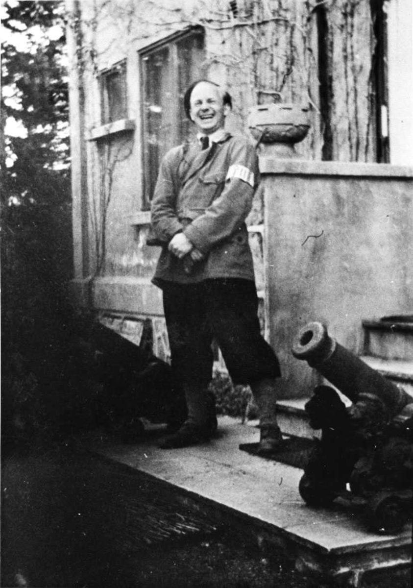 Vaktpost beslaglagt hus i 1945