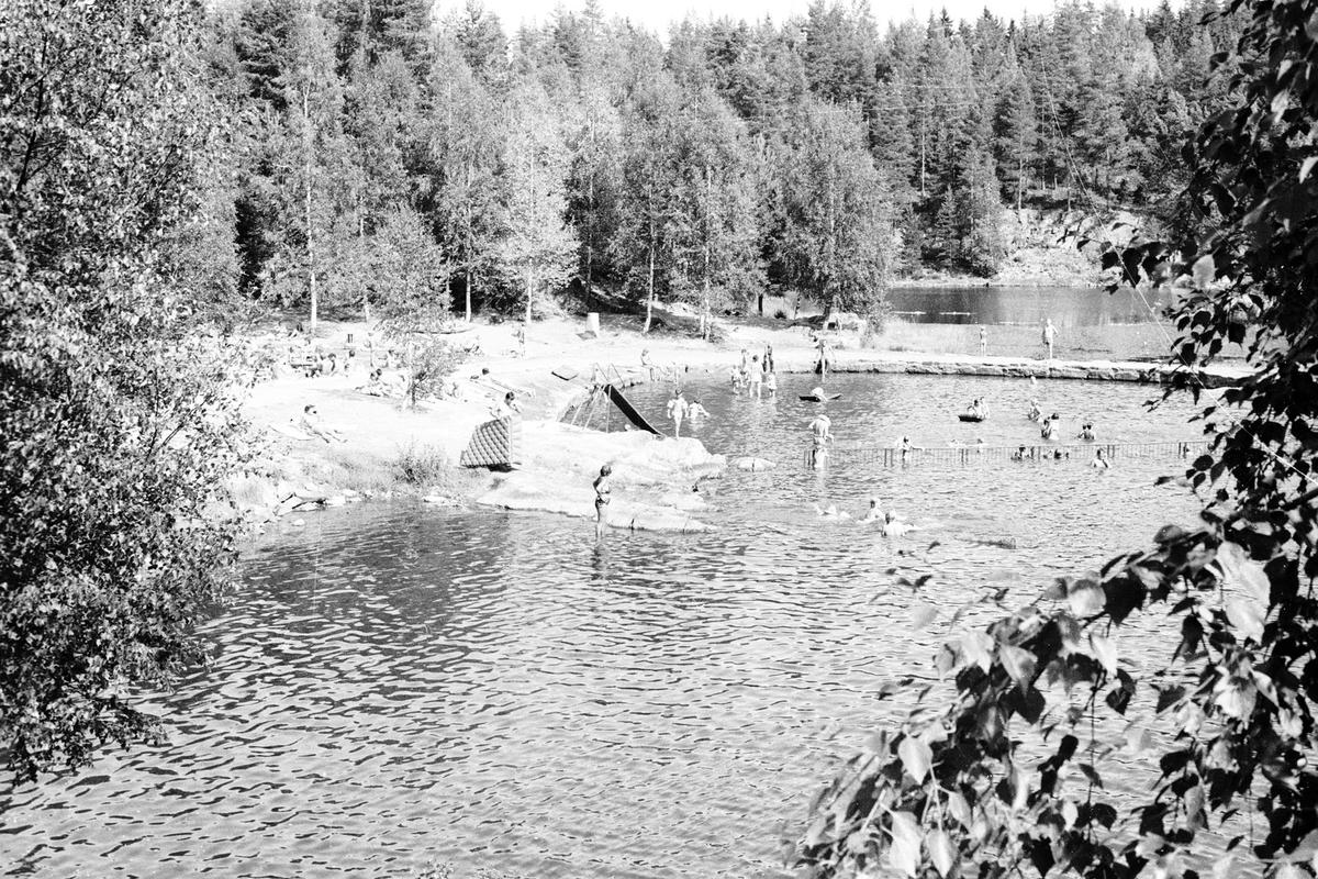 Sommer,bading på Myrdammen