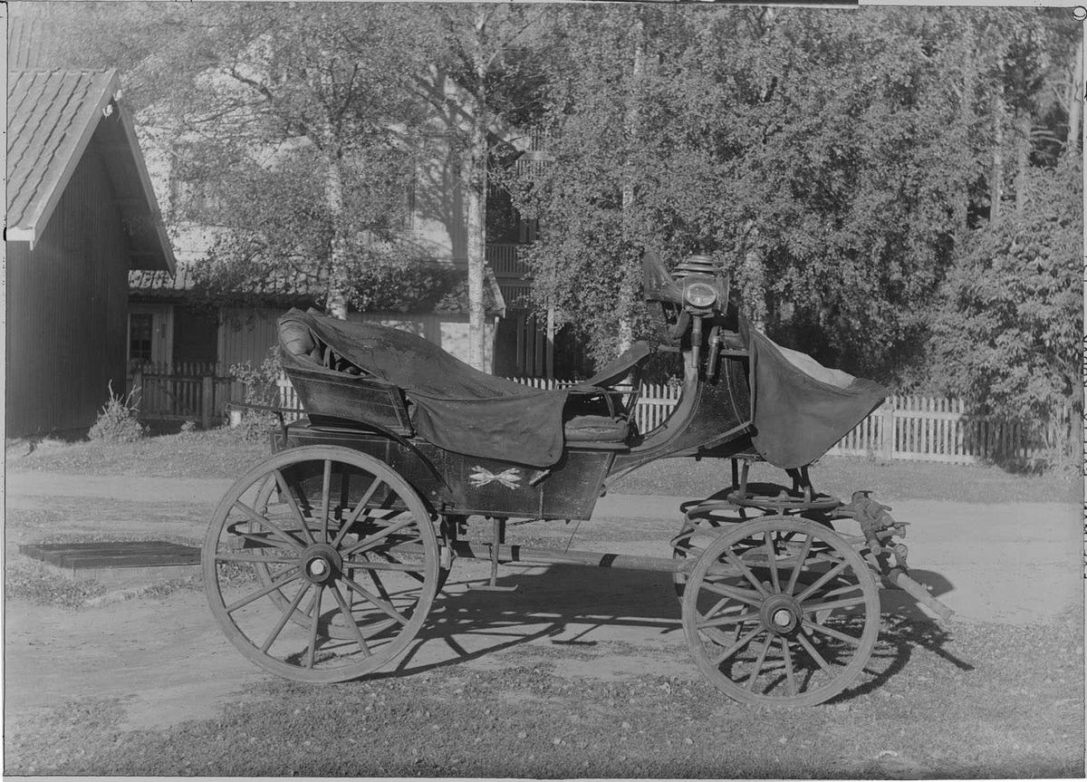 Gammel stasvogn for tospann fra 1920 - årene. Tilhørte A.R.2.