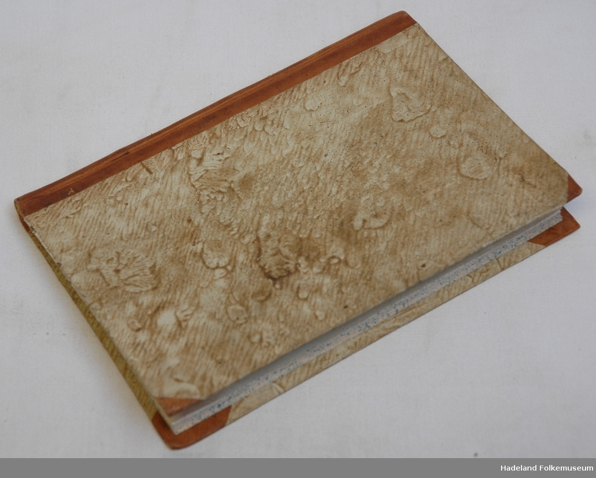 Gullpreget skinnrygg, marmorerte kartong permer med skinnhjørner