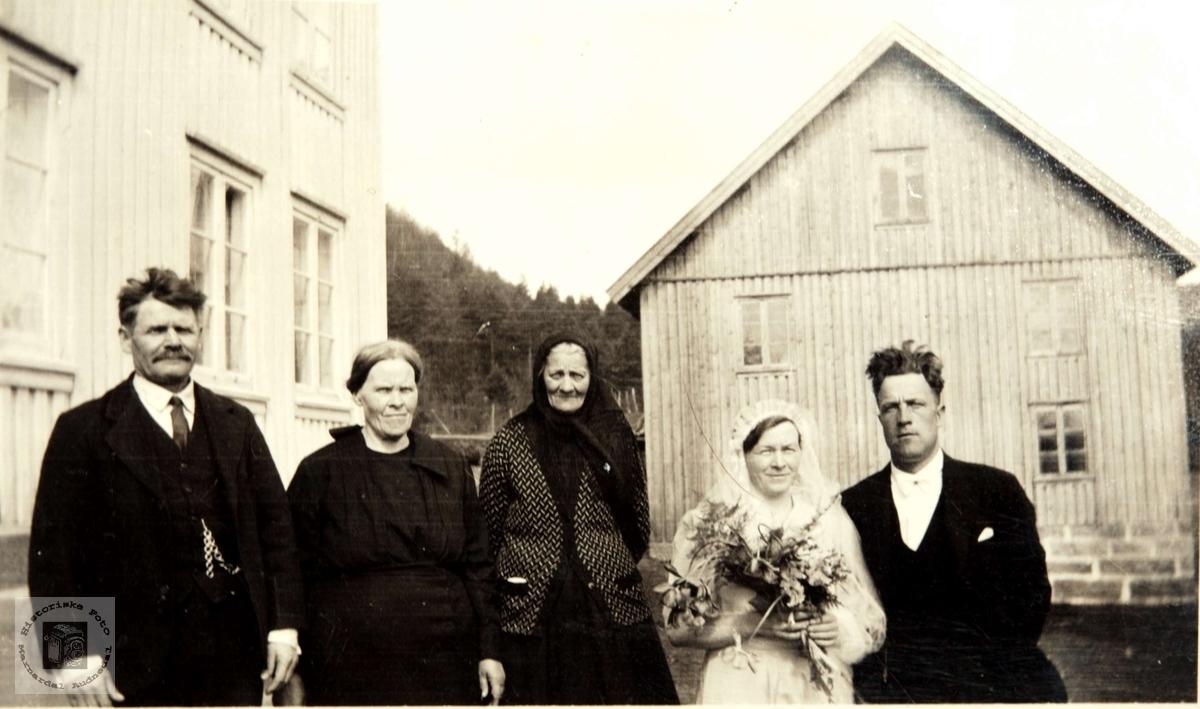 Bryllup Laungehaugen, Ågedal i Bjelland, nå Audnedal.