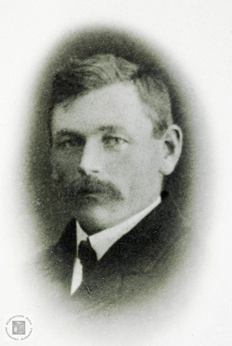 Portrett av Torjus Nilson Solberg. Bjelland Audnedal.