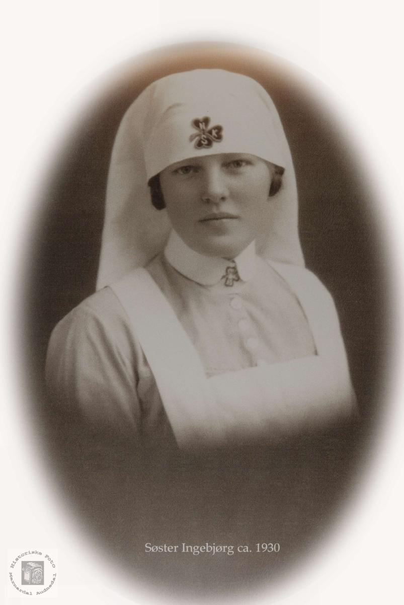 Portrett av sykepleier Ingeborg Øydna.