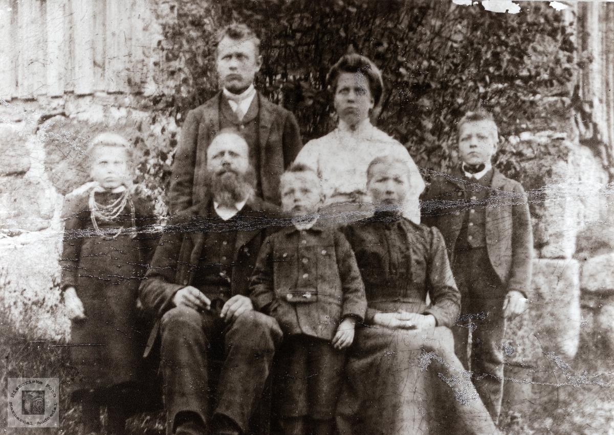 Familien Sandvann. Kvinesdal.