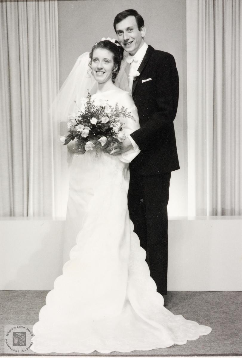 Brudebilde av Eilef og Anne Turid Kvarsnes. Grindheim.