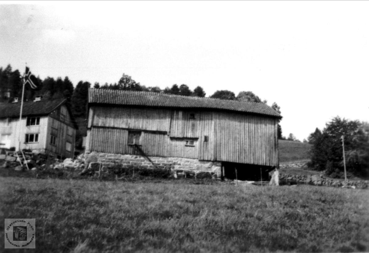 Gamalt uthus på Mindrebø, Bjelland.