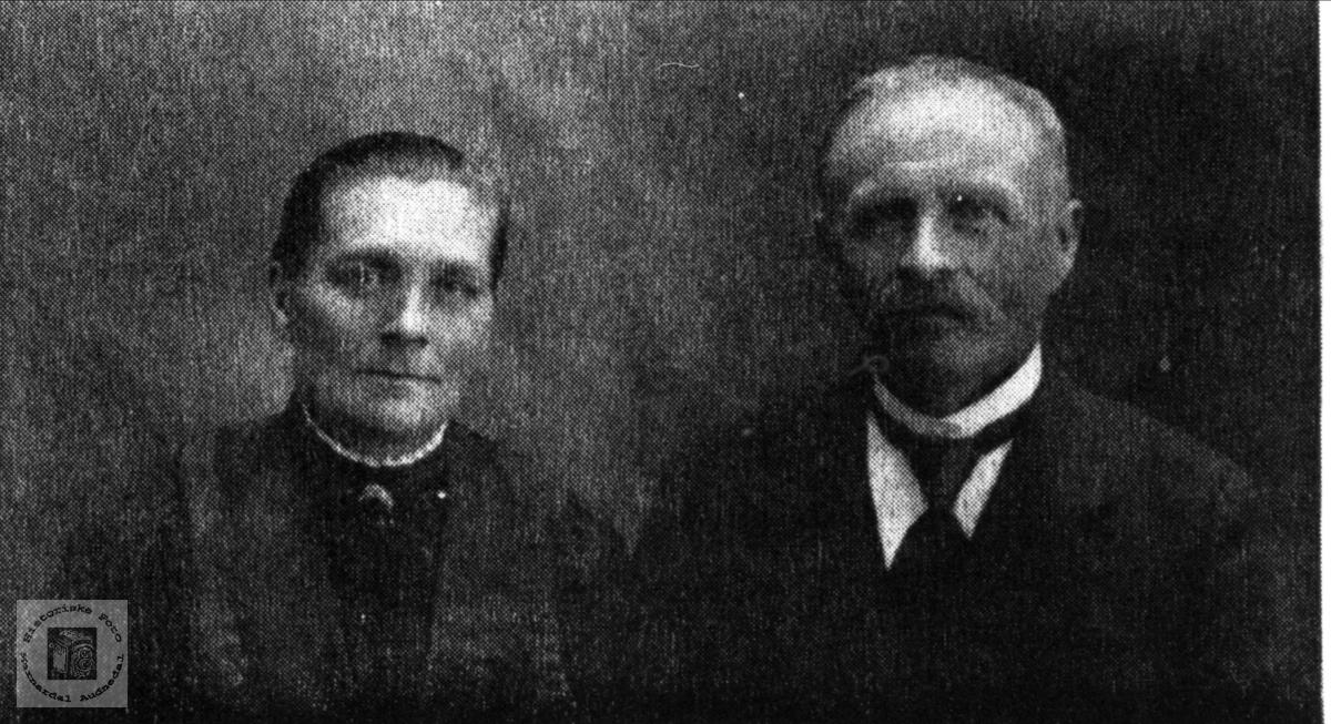 Ekteparet Gunhild og Tomas Roland, Bjelland.