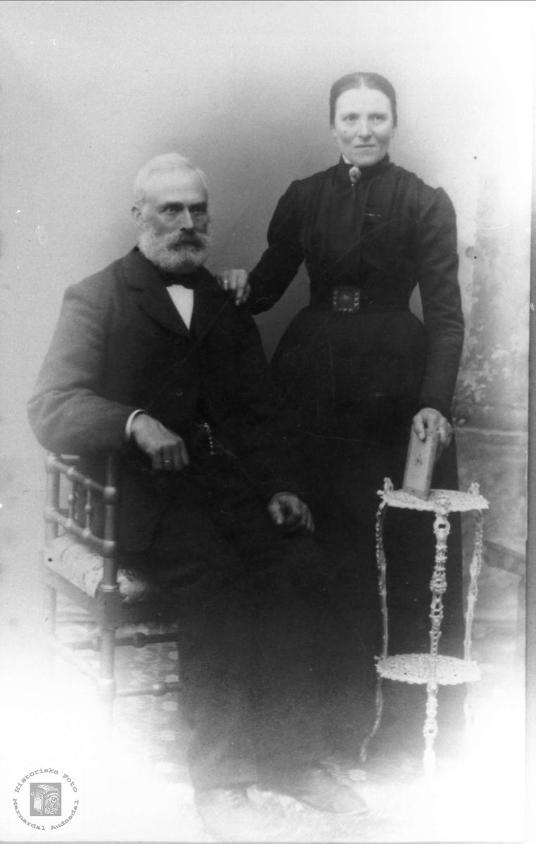 Ekteparet Lars og Gunhild Heddeland