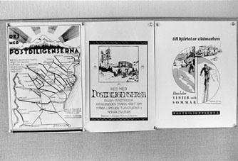 Från invigningen av Huvudkontoret för postverkets diligenstrafik, i Lycksele den 10 juni 1966.  (Se Tidningen PS nr 7/8 1966).
