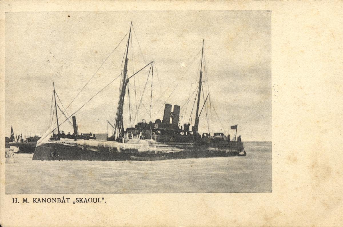 Vykort på kanonbåten Skagul