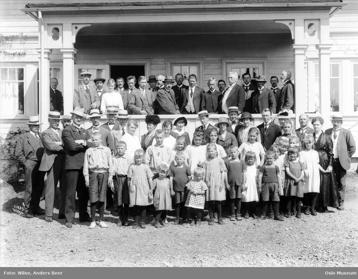 Lillehagen barnehjem, gruppe, barn, menn, kvinner