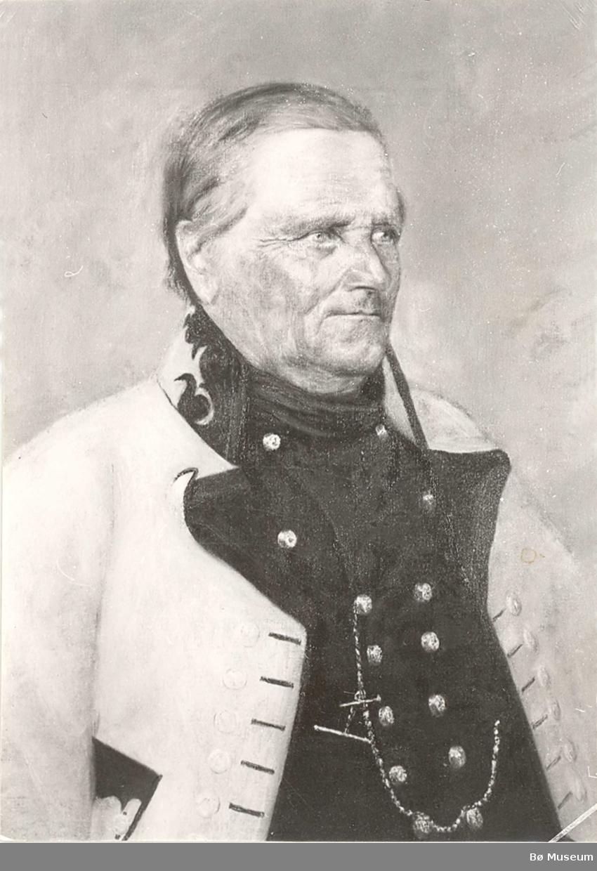 Foto av måleri av Gunnulv H. Borgen d.e. i Bø