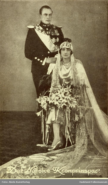Brudebilde Kronprins Olav og kronprinsesse Märtha