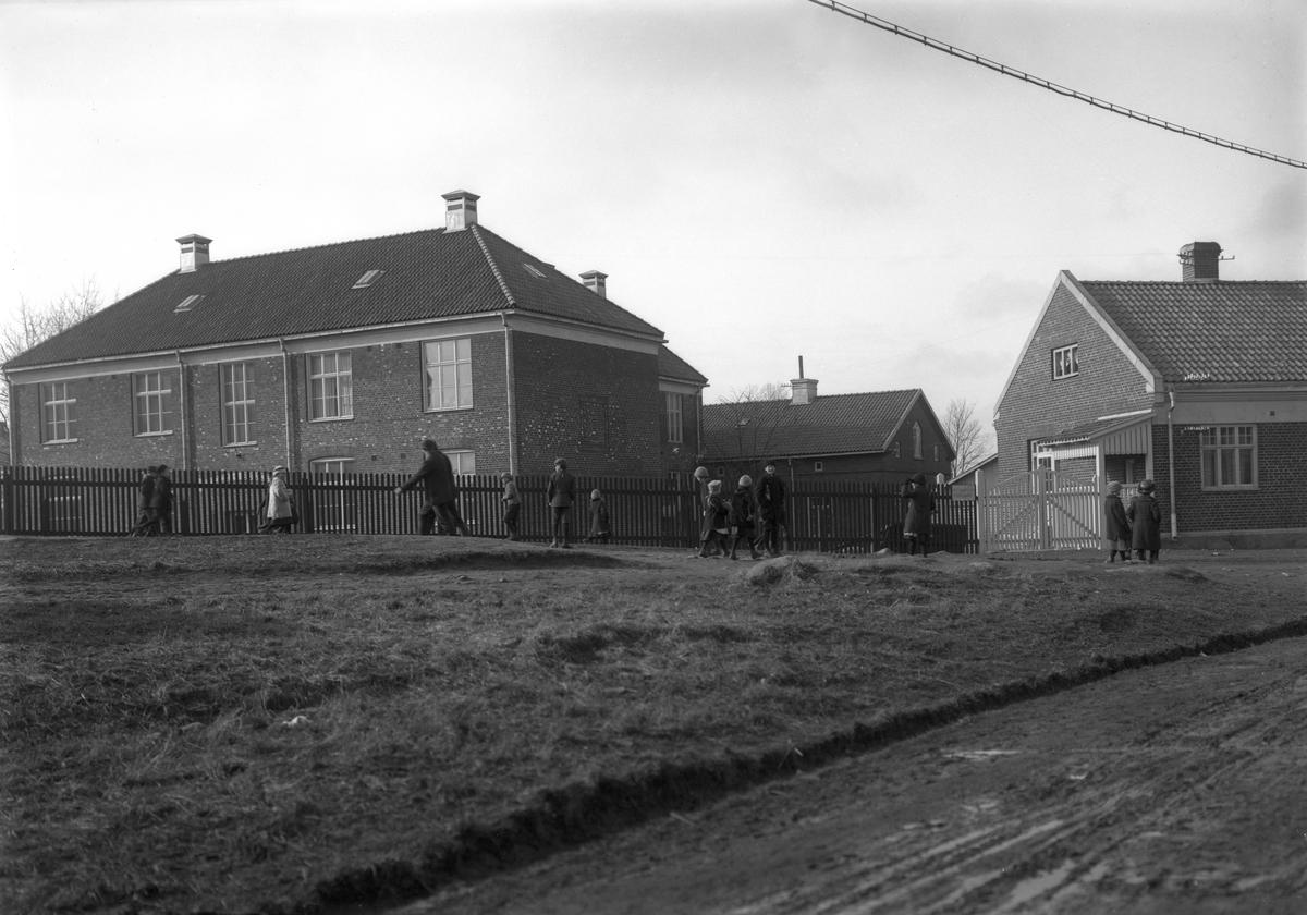 Stagnellska epidemisjukhuset vid Karlagatan på Herrhagen runt 1925.